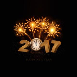 2017 New Year fireworks - Obrázkek zdarma pro iPad