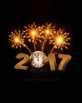 2017 New Year fireworks - Obrázkek zdarma pro 360x640