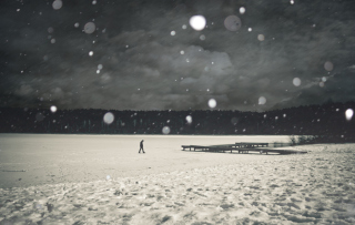 Alone Winter Wallpaper for Android, iPhone and iPad