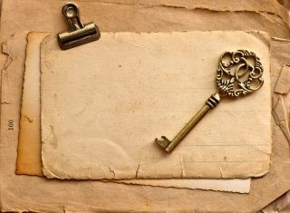 Vintage Key Background for Android, iPhone and iPad