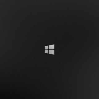 Windows 8 Black Logo - Obrázkek zdarma pro 320x320