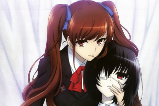 Izumi Akazawa and Mei Misaki in Another Background for Android, iPhone and iPad