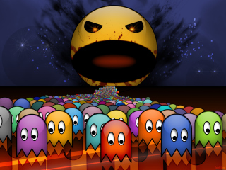 Pacman Wallpaper for Android, iPhone and iPad