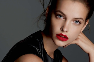 Barbara Palvin Red Lipstick Background for Android, iPhone and iPad