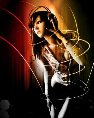Music Girl - Obrázkek zdarma pro iPhone 5S