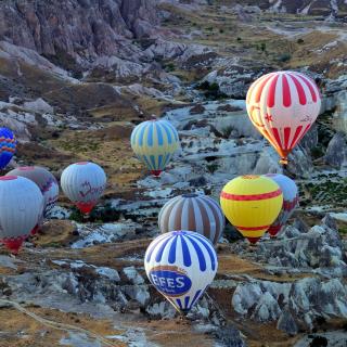 Hot air ballooning Cappadocia - Obrázkek zdarma pro 208x208