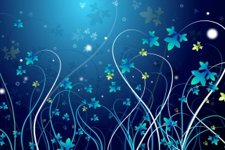 Winter Flowers Background for Android, iPhone and iPad