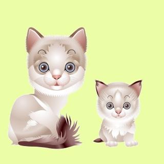 Hipster Cat Clip Art - Obrázkek zdarma pro 1024x1024