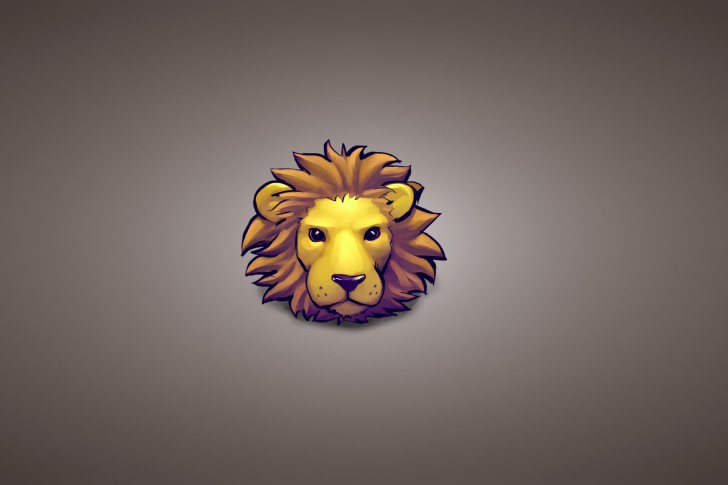 Lion Muzzle Illustration wallpaper