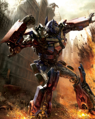 Transformer - Optimus Prime - Obrázkek zdarma pro Nokia Asha 303