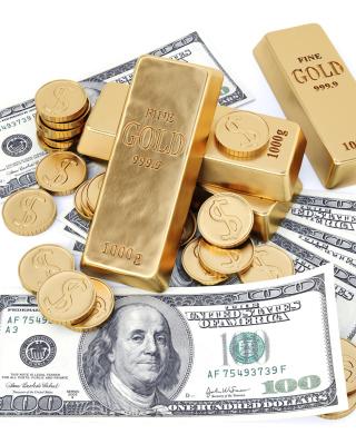 Money And Gold - Obrázkek zdarma pro iPhone 4S