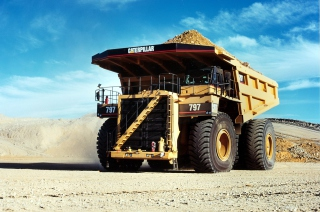 Free Caterpillar - Dump Truck Picture for Android, iPhone and iPad