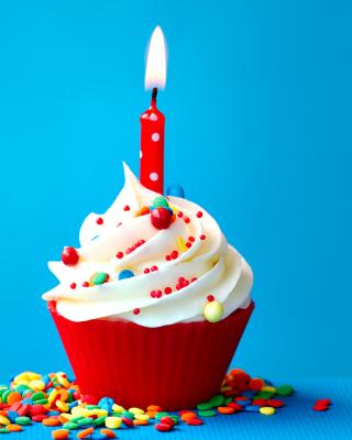 Happy Birthday Cupcake - Obrázkek zdarma pro 480x854