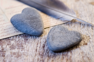 Free Stone Heart Picture for Android, iPhone and iPad