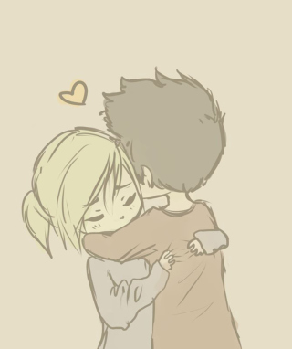 Couple Hug - Obrázkek zdarma pro Nokia Asha 202