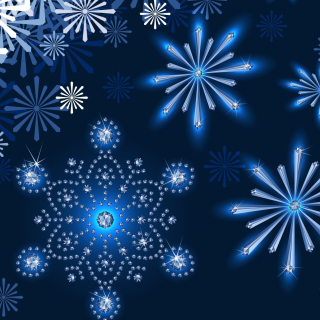 Snowflakes Ornament - Obrázkek zdarma pro iPad mini