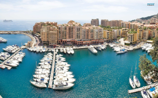 Free Posh Monaco Yachts Picture for Android, iPhone and iPad