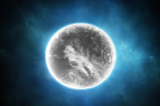 Gray Planet Background for Android, iPhone and iPad