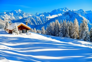 Switzerland Alps in Winter Background for Android, iPhone and iPad