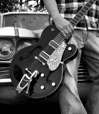 Guitar Bigsby - Obrázkek zdarma pro Nokia Asha 202