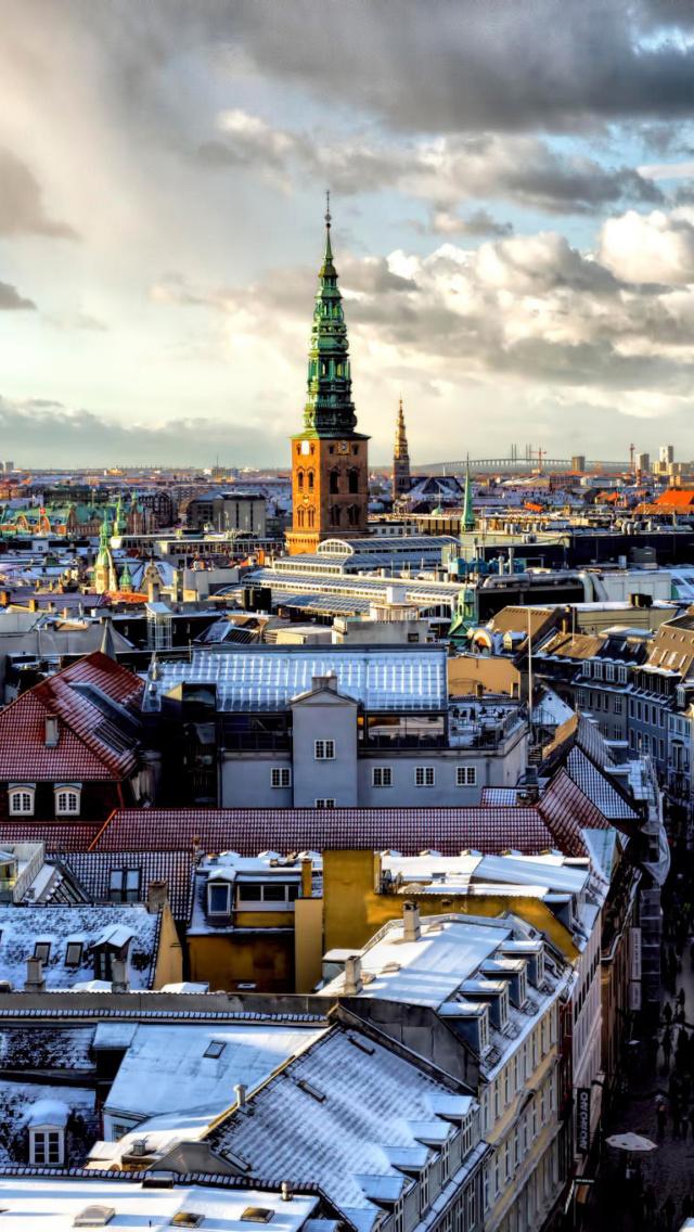 Copenhagen roofs wallpaper for iphone 5 - Copenhagen wallpaper ...