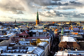 Copenhagen Roofs Wallpaper for Android, iPhone and iPad