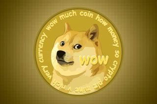 Dog Golden Coin Background for Android, iPhone and iPad