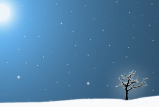 Last Winter Tree Background for Android, iPhone and iPad