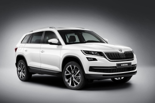 Skoda Kodiaq White Background for Android, iPhone and iPad