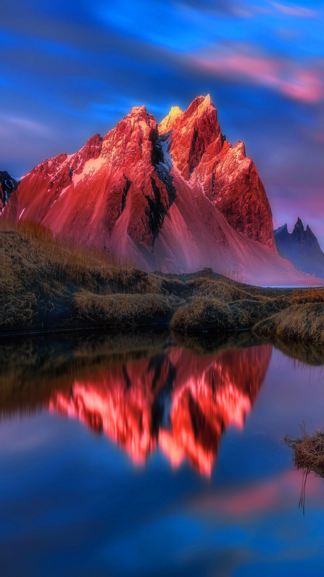 Beautiful Red Sunset Landscape Wallpaper for 1080x1920