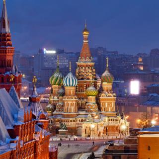Moscow Winter cityscape - Obrázkek zdarma pro 128x128