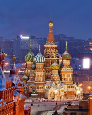 Moscow Winter cityscape - Obrázkek zdarma pro Nokia X2