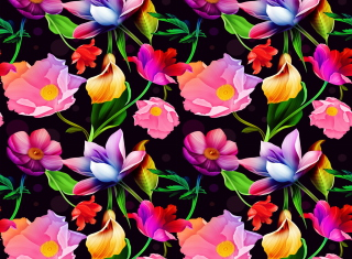 Colorful Flowers Background for Android, iPhone and iPad