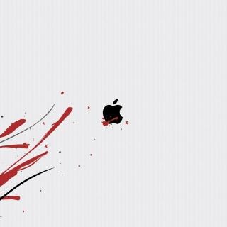 Black Apple Logo - Obrázkek zdarma pro iPad mini 2