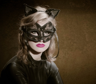 Cat Woman Mask - Obrázkek zdarma pro iPad