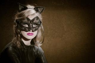 Cat Woman Mask - Obrázkek zdarma pro 800x600