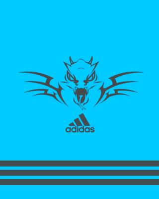 Adidas Blue Background - Obrázkek zdarma pro 176x220