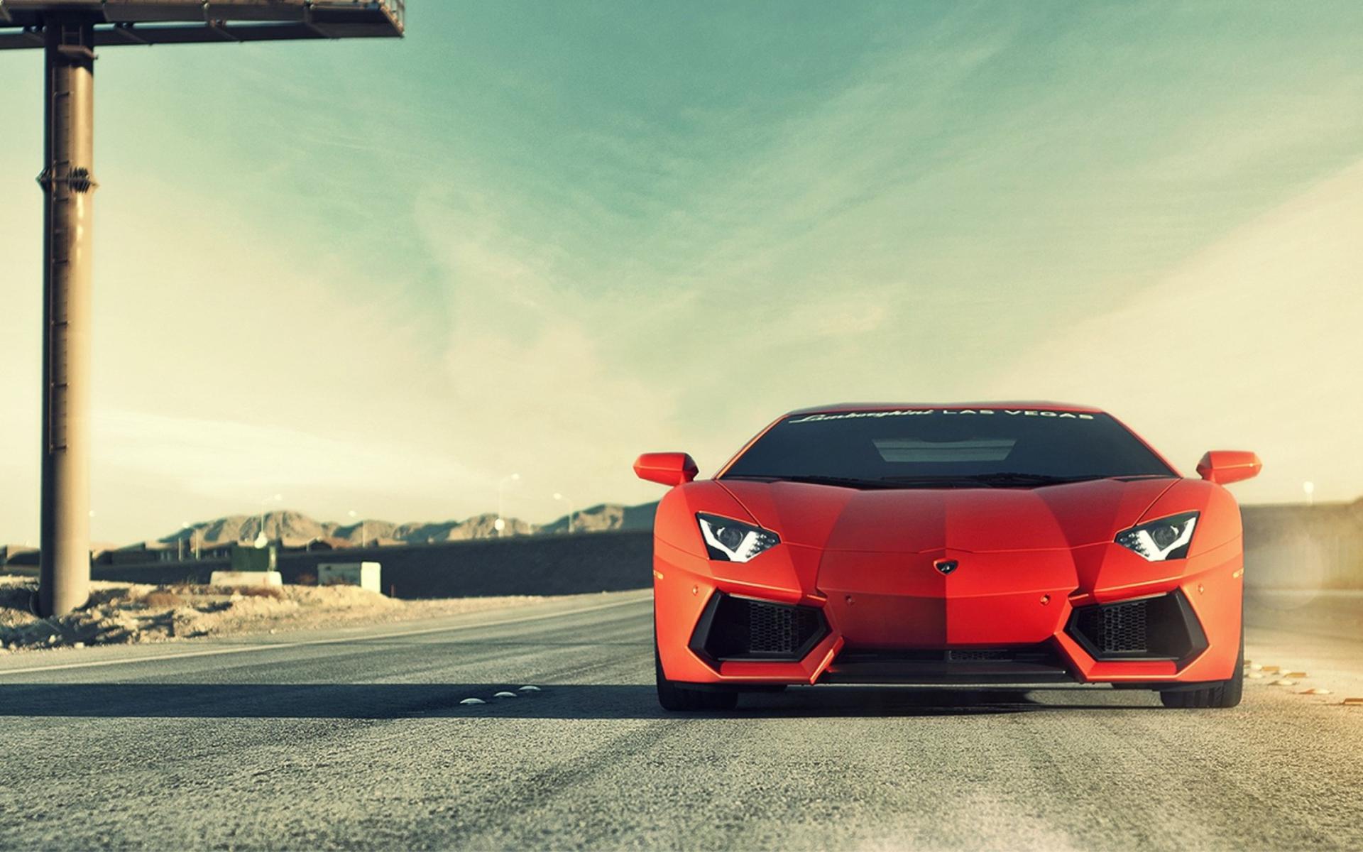 Автомобиль красный lamborghini aventador  № 3074377 загрузить