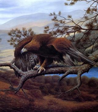 Eagle On Branch - Obrázkek zdarma pro iPhone 5