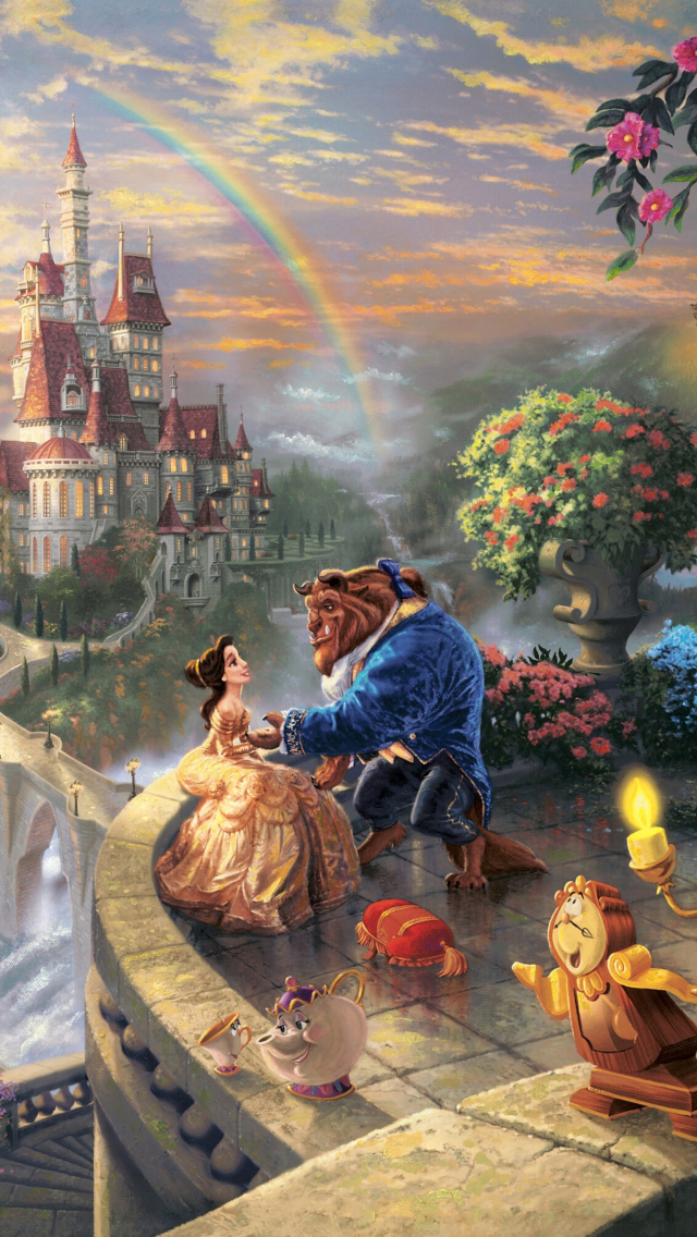 Thomas Kinkade, Beauty And The Beast Wallpaper For IPhone 5