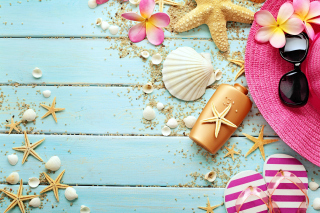 Marine Still Life and Accessories Background for Android, iPhone and iPad