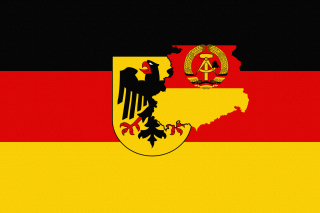 German Flag With Eagle Emblem Wallpaper for Android, iPhone and iPad