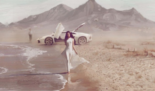 Porsche Girl Wallpaper for Android, iPhone and iPad