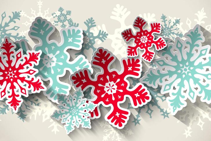Snowflakes Decoration wallpaper