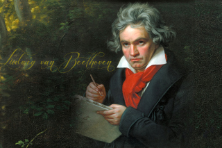 Ludwig Van Beethoven Background for Android, iPhone and iPad