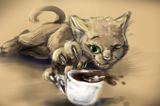 Sketch Of Funny Cat Picture for Android, iPhone and iPad