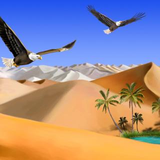 Desert Landscape - Obrázkek zdarma pro 208x208
