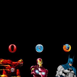 Browsers Chrome, Opera, Firefox, Safari - Obrázkek zdarma pro 1024x1024