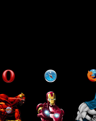 Browsers Chrome, Opera, Firefox, Safari - Obrázkek zdarma pro 240x400