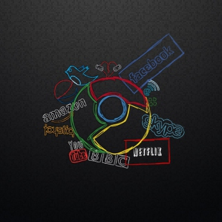 Chrome and Social Networks - Obrázkek zdarma pro 320x320